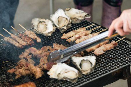 厚岸産の牡蠣はみんな大好物!牛肉も感謝の念を持っていただきます!